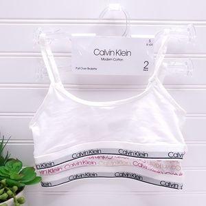 Calvin Klein Girl's Modern Cotton Bralette 2PK
